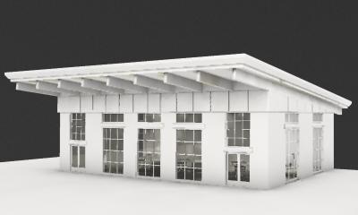 3d model of farmers market center