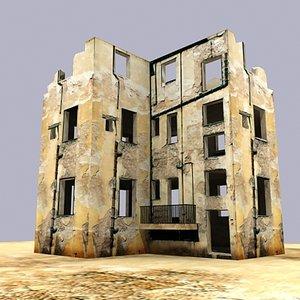 3d old building