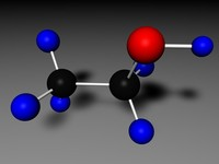 ethyl alcohol 3d model