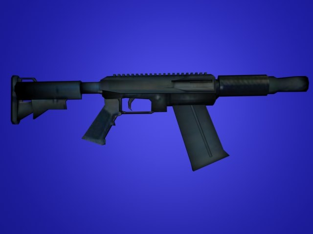 semi-auto shotgun 3d model