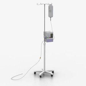iv pump hospitals 3d model