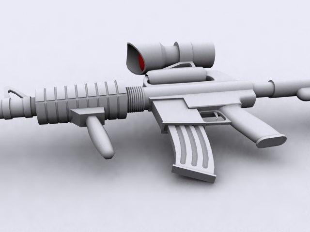 3d m4a1 rifle model