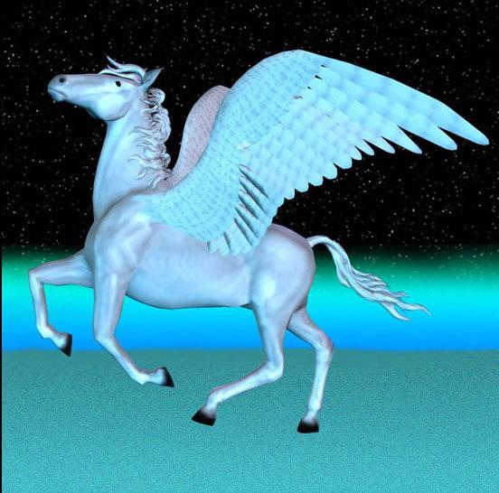 pegasus winged horse poser animation pz3