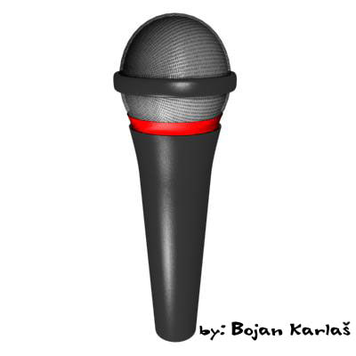 3d model microphone stage recording