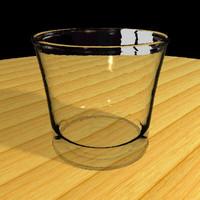 3d drinking glass tumbler model