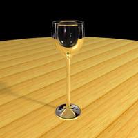 3d tall wine glass model