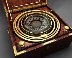 dxf antique marine compass