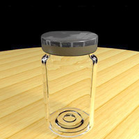 jam jar glass 3d 3ds