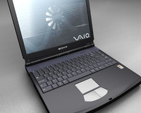 sony laptop 3d model