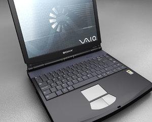 sony laptop 3d model