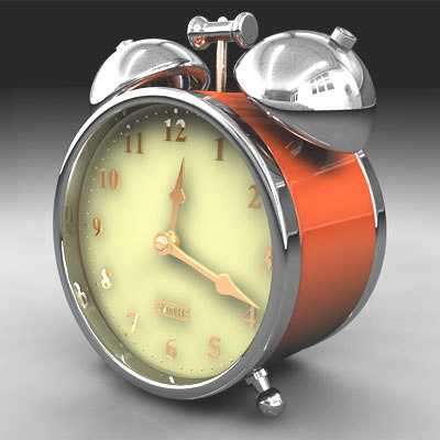 cinema4d traditional alarm clock