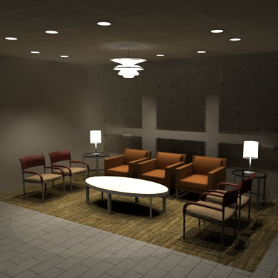 chairs tables living 3d model