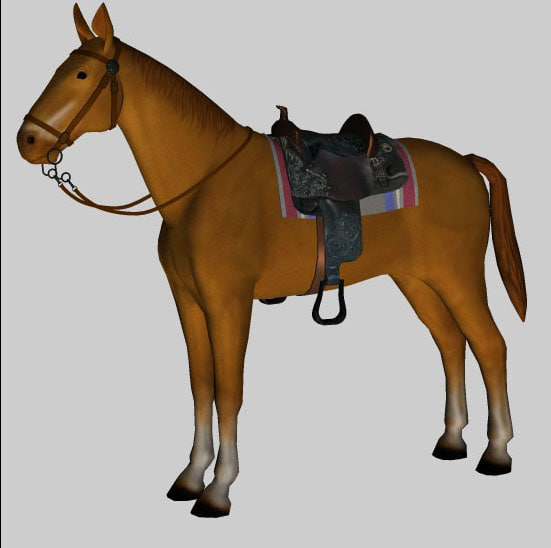 3d horse tack pzhor