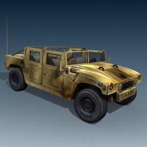 hummer jeep humvee 3d max