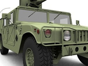 humvee m242 bushmaster 3d model