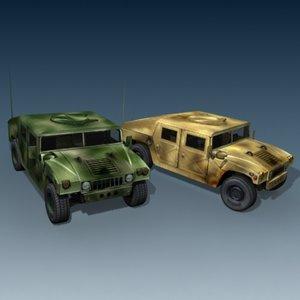 hummer jeep humvee 3d 3ds