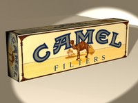 3d carton camels cigarettes cigs model