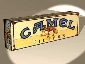 3d carton camels cigarettes cigs model