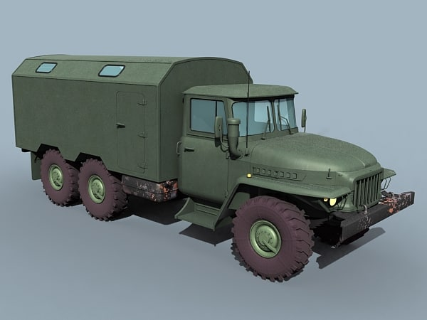 3d ural 375 ural-375 model