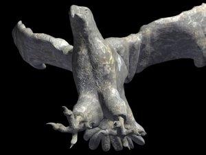 eagle stone statue 3d model