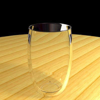 3d model of drinking glass