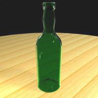 port wine bottle 3d model