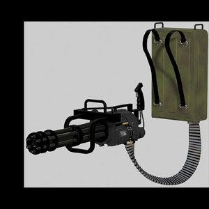3d m134 mini gun