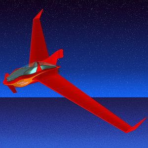 recumbent flying 3d model