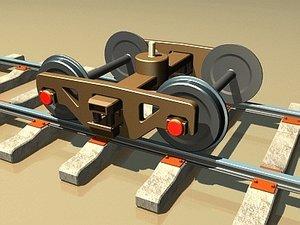 3d railway carriage