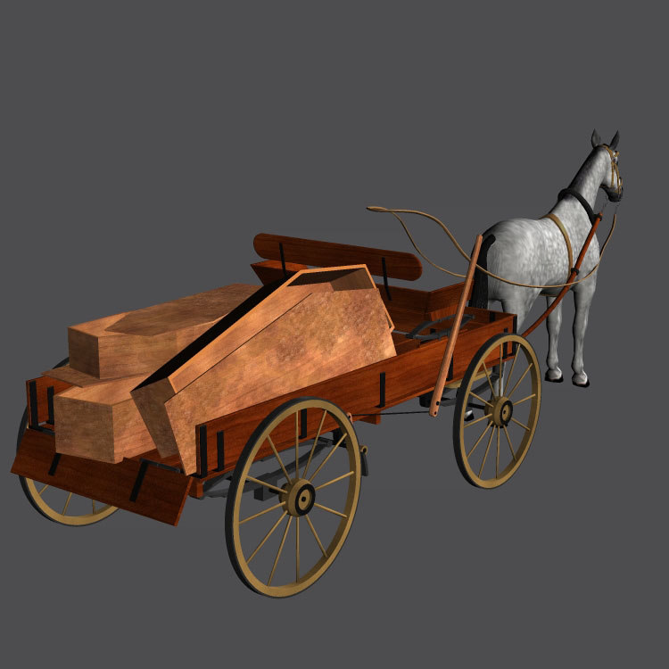 antique wagon 3d pz3