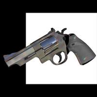 44 magnum revolver handgun 3d model