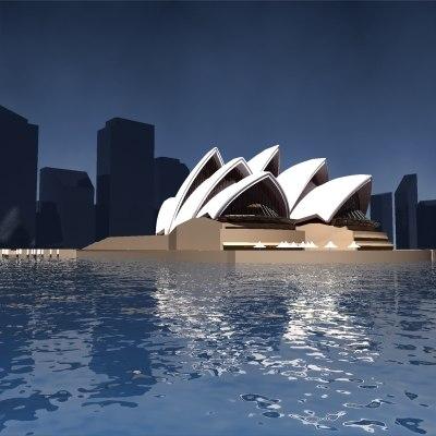 sydney opera 3d model