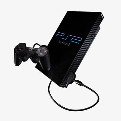 ps2 controller playstation 3d model