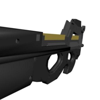 3ds max fn p90 gun