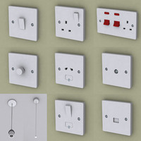 3d electrical fittings switch model