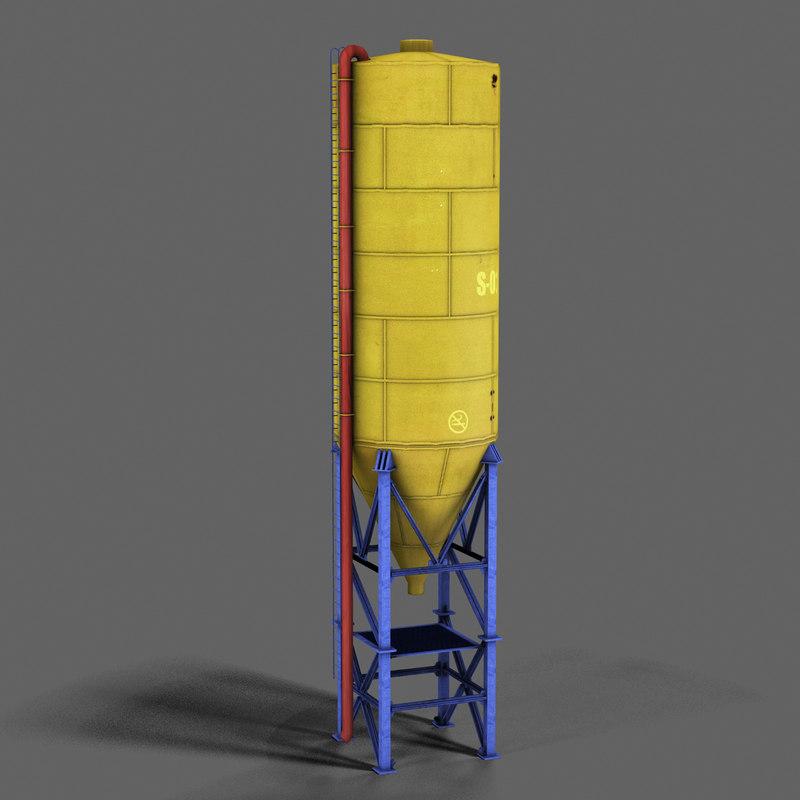 industrial complex 3d model