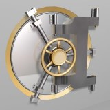 bank vault safe door 3d model