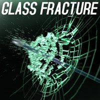 glass fracture blast animation 3d model