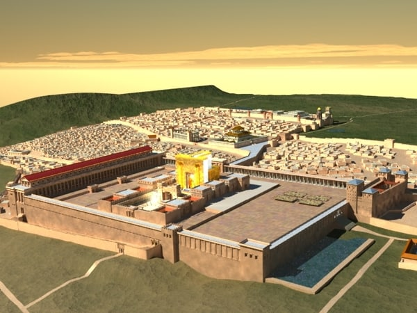 jesus roman temple 3d model