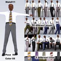 male man people 3d model
