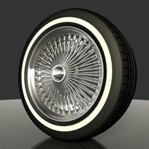 3d wire wheels model