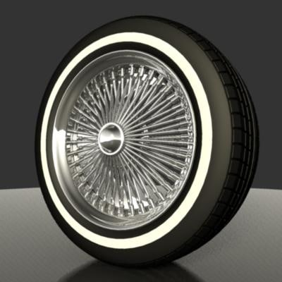 3d wire wheels model