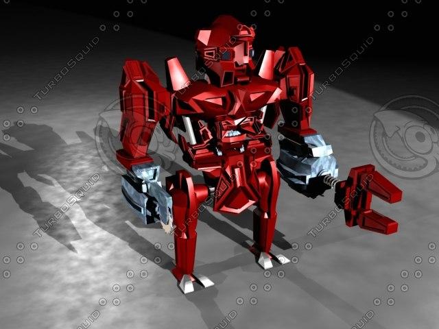 3d model robot low-poly