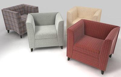 quadra chair 3d c4d