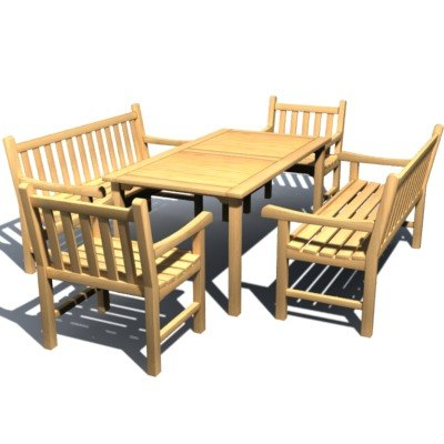 3d outdoor furniture britannia garden chair model