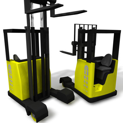3d forklift stacker truck model