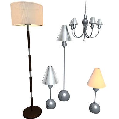 lamps lights 3d model