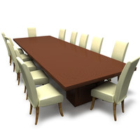 3d wood dining table