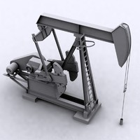 oil field pumping unit 3d model
