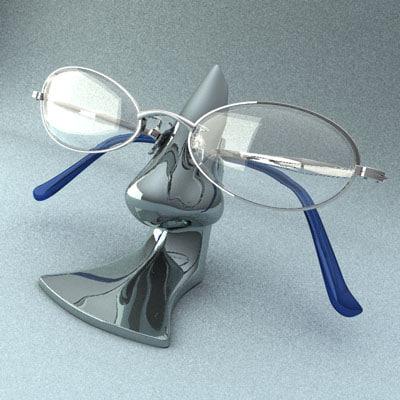 glasses stand c4d